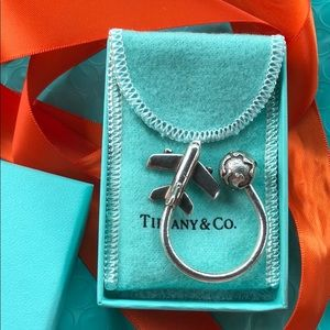 Tiffany airplane sterling solid keychain